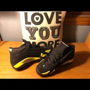 182328ad97cd Women s Black And Yellow 14 Jordans on Poshmark
